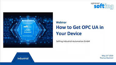 Webinar (hosted by Automation.com): How to Get OPC UA in Your Device