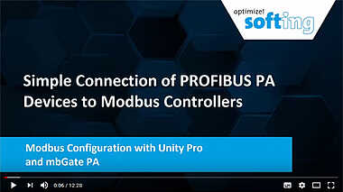 Modbus Configuration with Unity Pro and mbGate PA