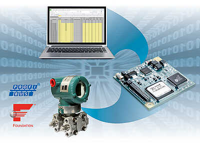 [Translate to Deutsch:] Rapid Realization of FOUNDATION fieldbus H1 or PROFIBUS transmitters