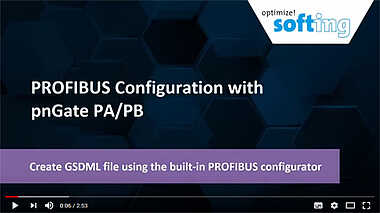 PROFIBUS Configuration with pnGate PA/PB