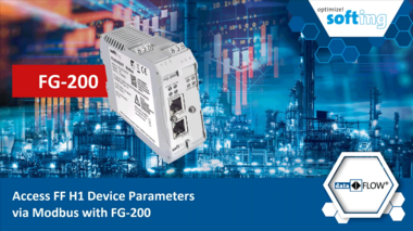 Access FF H1 device parameters via Modbus with FG-200