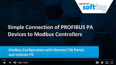 Modbus Configuration with Siemens TIA Portal and mbGate PA
