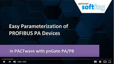 Easy Parameterization of PROFIBUS PA Devices in PACTware with pnGate PA/PB