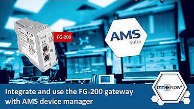 Integrate and use the FG-200 gateway with AMS device manager