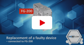 Video | Replacement of a faulty device – connected to FG-200
