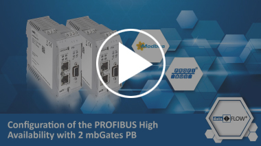 Configuration of the PROFIBUS High Availability with 2 mbGates PB