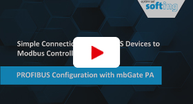 Video: Simple Connection of PROFIBUS Devices to ­Modbus Controllers: PROFIBUS Configuration with mbGate PA