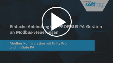 Video | Modbus Configuration with Unity Pro and mbGate PA