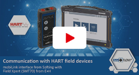 Video: Communication with HART field devices: mobiLink interface from Softing with Field Xpert (SMT70) from E+H