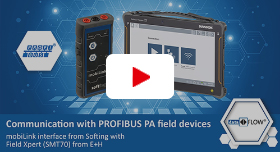 Video: Communication with PROFIBUS PA field devices: mobiLink Interface from Softing with Field Xpert (SMT70) from E+H