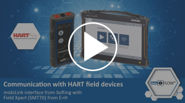 Communication with HART field devices – mobiLink interface from Softing with Field Xpert from E+H