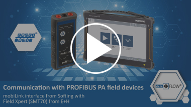 Communication with PROFIBUS PA field devices – mobiLink from Softing with Field Xpert from E+H