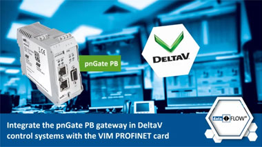 Integrate the pnGate gateway in DeltaV control systems with the VIM PROFINET card