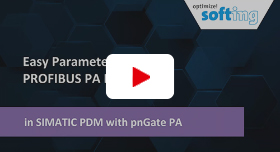 Video: Easy Parameterization of PROFIBUS PA Devices in SIMATIC PDM with pnGate PA