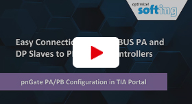 Video: Easy Connection of PROFIBUS PA and DP Slaves to PROFINET Controllers: pnGate PA/PB ­Configuration in TIA Portal