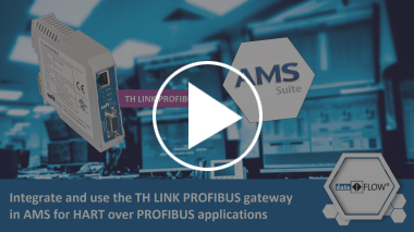 Video | - Integrate and use the TH LINK PROFIBUS device in AMS for HART over PROFIBUS applications